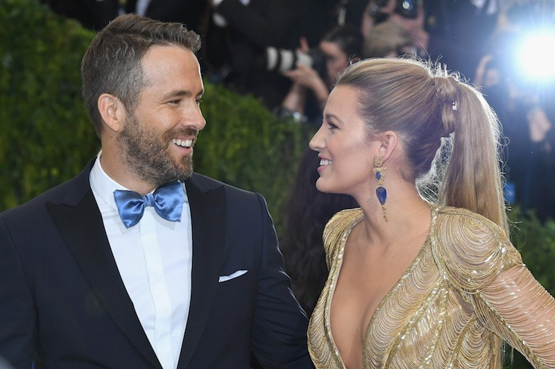 """NEW YORK, NY - MAY 01: Ryan Reynolds (L) and Blake Lively attend the """"Rei Kawakubo/Comme des Garcons: Art Of The In-Between"""" Costume Institute Gala at Metropolitan Museum of Art on May 1, 2017 in New York City. (Photo by Dia Dipasupil/Getty Images For Entertainment Weekly)"""