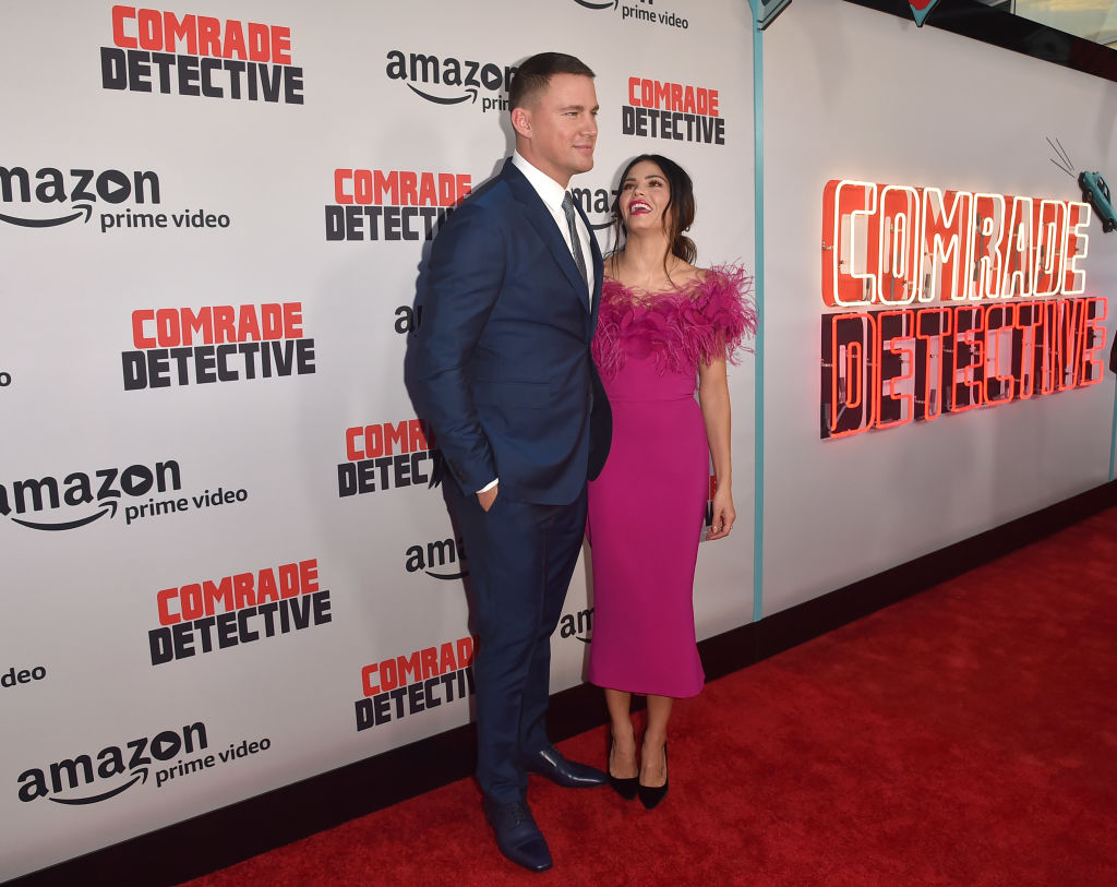 "Actors Channing Tatum and Jenna Dewan Tatum attend the premiere of Amazon's ""Comrade Detective"" at ArcLight Hollywood on August 3, 2017 in Hollywood, California."