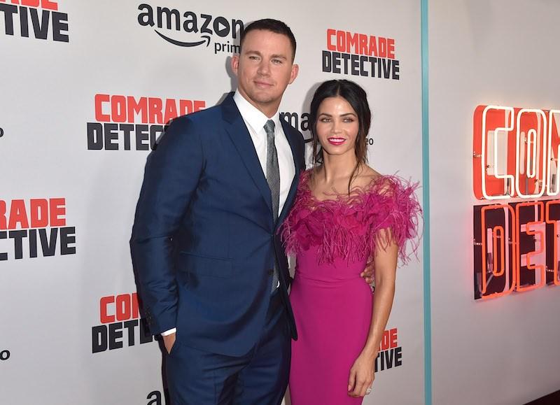 "CA - AUGUST 03: Actors Channing Tatum and Jenna Dewan Tatum attend the premiere of Amazon's ""Comrade Detective"""
