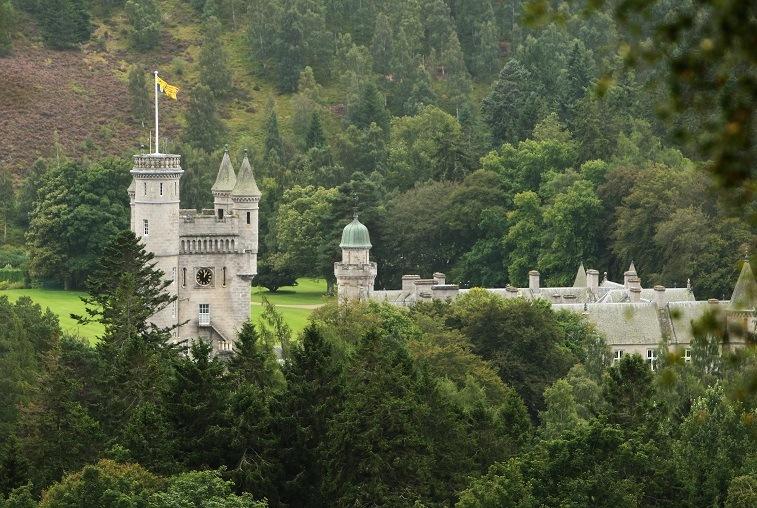 Balmoral Castle on the Balmoral Estate in Aberdeenshire, Scotland