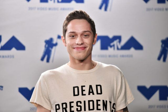 Pete Davidson poses in the press room during the 2017 MTV Video Music Awards at The Forum on August 27, 2017 in Inglewood, California.