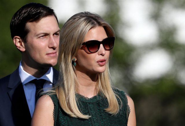 Ivanka Trump and Jared Kushner standing together.