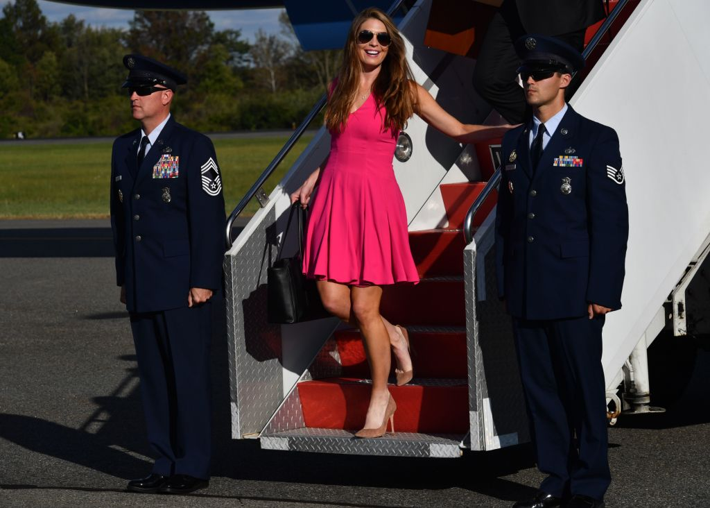 Hope Hicks exits Air Force One