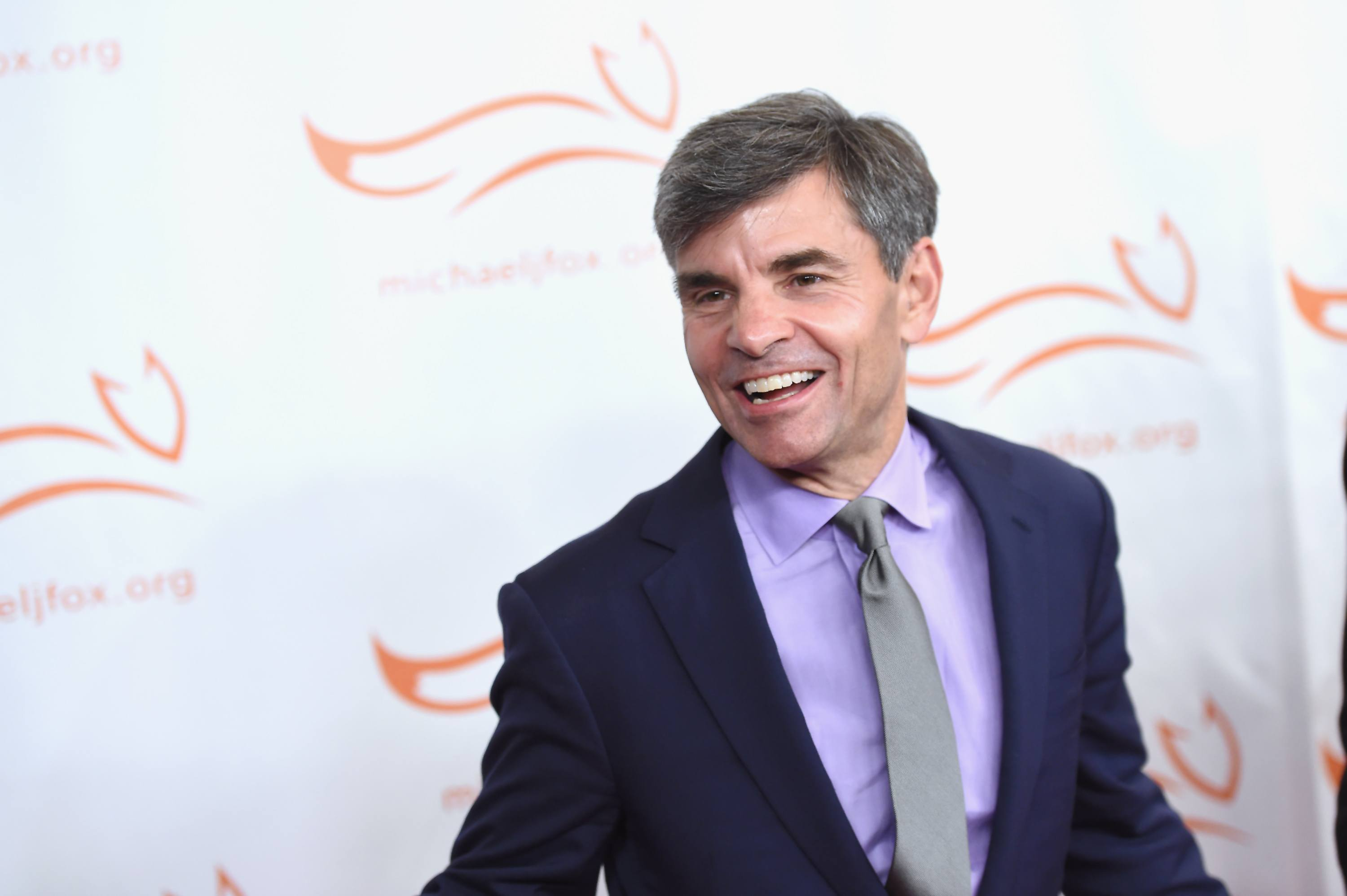 NEW YORK, NY - NOVEMBER 11: George Stephanopoulos on the red carpet of A Funny Thing Happened On The Way To Cure Parkinson's benefitting The Michael J. Fox Foundation at the Hilton New York on November 11, 2017. (Photo by Nicholas Hunt/Getty Images)