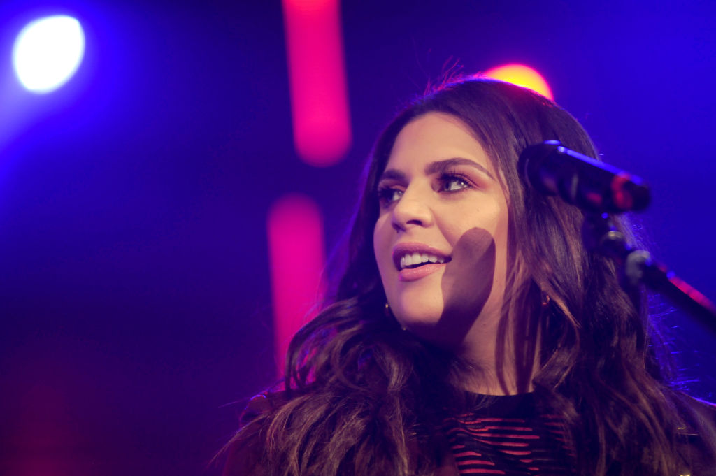Hillary Scott of Lady Antebellum performs onstage during CBS RADIO's Third Annual 'Stars and Strings' Concert to honor our nation's veterans at Chicago Theatre on November 15, 2017 in Chicago, Illinois.
