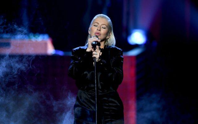 Christina Aguilera performs onstage during the 2017 American Music Awards at Microsoft Theater.