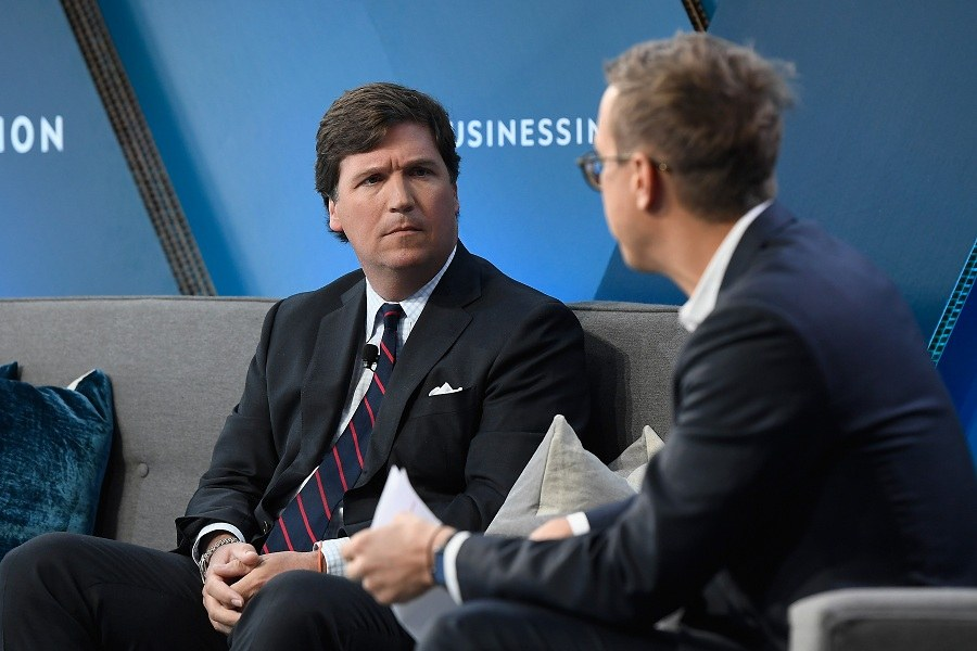 Tucker Carlson with his bewildered look