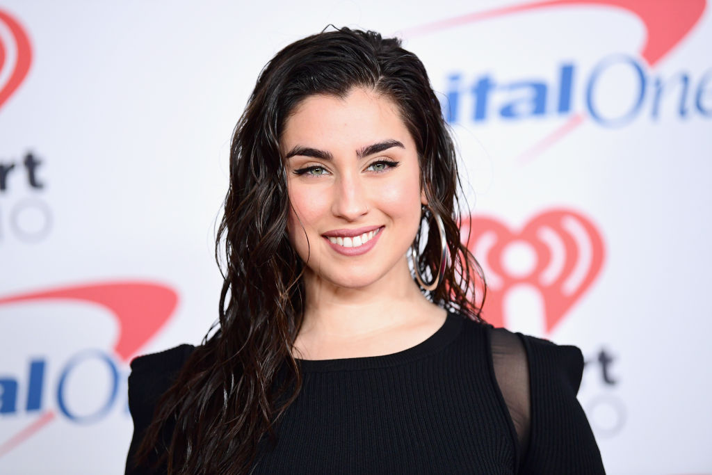 Lauren Jauregui poses in the press room during 102.7 KIIS FM's Jingle Ball 2017 presented by Capital One at The Forum on December 1, 2017 in Inglewood, California