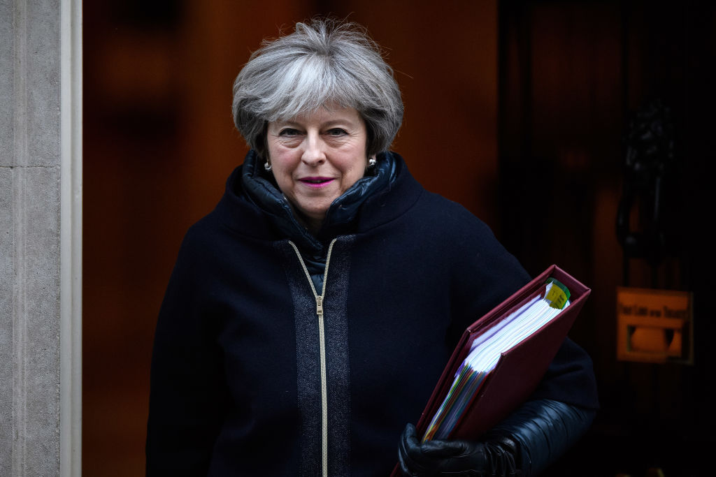 British Prime Minister Theresa May leaves number 10 Downing Street