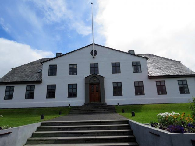 Government House in Reykjavik, Iceland