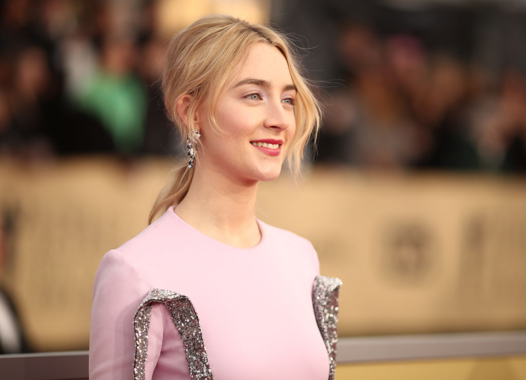 Actor Saoirse Ronan attends the 24th Annual Screen Actors Guild Awards at The Shrine Auditorium on January 21, 2018 in Los Angeles, California.