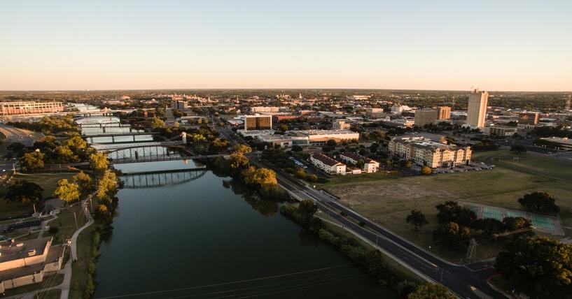 Waco, Texas, aerial view