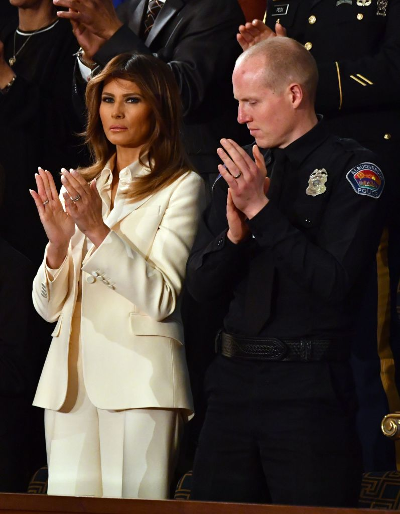 melania trump at the state of the union