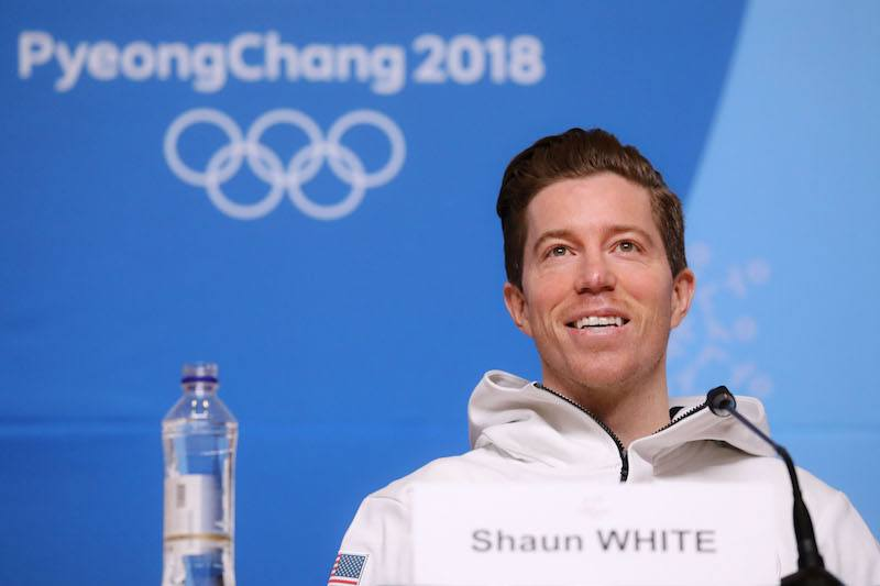 USA's snowboard athlete Shaun White attends a press conference at the Media Press Center ahead of the Pyeongchang 2018 Winter Olympic Games on February 8, 2018 in Pyeongchang. / AFP PHOTO / Florian CHOBLET / The erroneous mention[s] appearing in the metadata of this photo by Florian CHOBLET has been modified in AFP systems in the following manner: [snowboard] instead of freestyle skiing]. Please immediately remove the erroneous mention[s] from all your online services and delete it (them) from your servers. If you have been authorized by AFP to distribute it (them) to third parties, please ensure that the same actions are carried out by them. Failure to promptly comply with these instructions will entail liability on your part for any continued or post notification usage. Therefore we thank you very much for all your attention and prompt action. We are sorry for the inconvenience this notification may cause and remain at your disposal for any further information you may require. (Photo credit should read FLORIAN CHOBLET/AFP/Getty Images)
