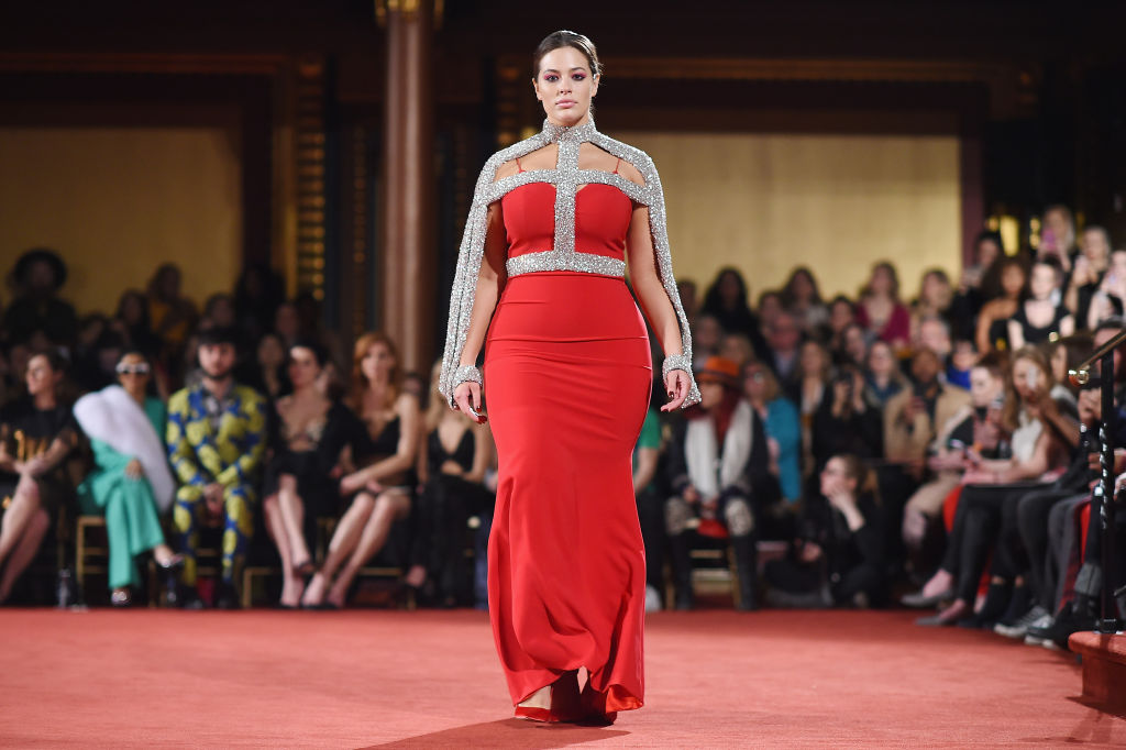 Model Ashley Graham walks the runway at the Christian Siriano fashion show during New York Fashion Week at Grand Lodge on February 10, 2018 in New York City.