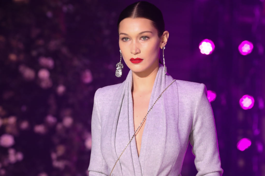 Bella Hadid walks the runway at Brandon Maxwell Fall Winter 2018 Collection at the Appel Room on February 11, 2018 in New York City.