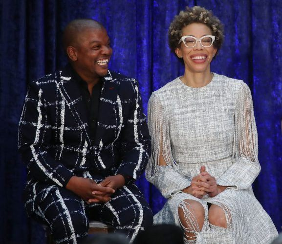 Artist Kehinde Wiley, and Amy Sherald attend their official portrait unveiling of former U.S. President Barack Obama and first lady Michelle Obama
