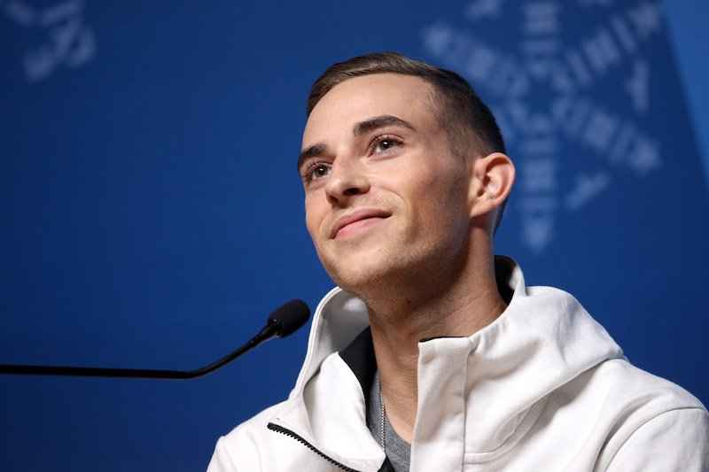 PYEONGCHANG-GUN, SOUTH KOREA - FEBRUARY 13: United States Figure Skater Adam Rippon speaks during a press conference at the Main Press Centre on February 13, 2018 in Pyeongchang-gun, South Korea. (Photo by Chris Graythen/Getty Images)