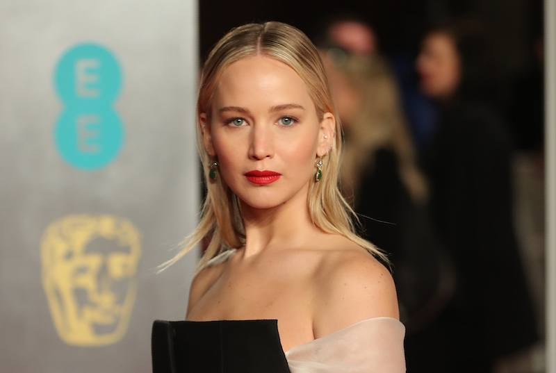 US actress Jennifer Lawrence poses on the red carpet upon arrival at the BAFTA British Academy Film Awards at the Royal Albert Hall in London on February 18, 2018. / AFP PHOTO / Daniel LEAL-OLIVAS (Photo credit should read DANIEL LEAL-OLIVAS/AFP/Getty Images)