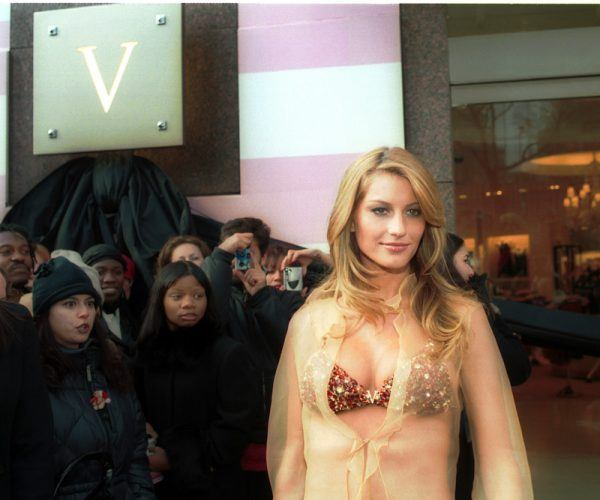 Gisele posing in a jeweled bikini at the Victora's Secret Fashion Show.