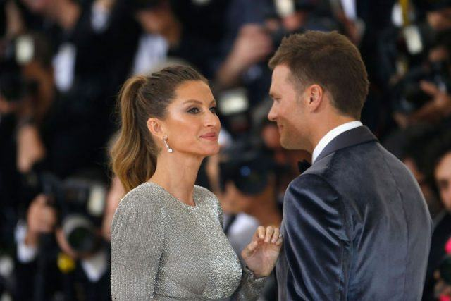 Gisele Bündchen and her husband, Tom Brady at the MET Gala.