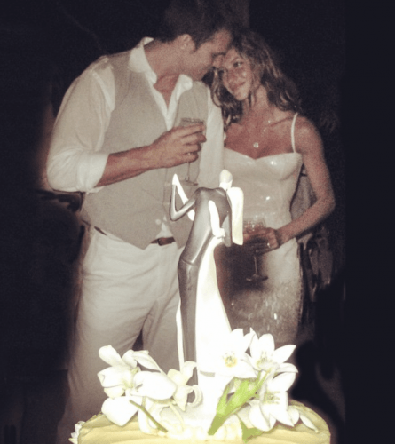 Tom and Gisele on their wedding day.