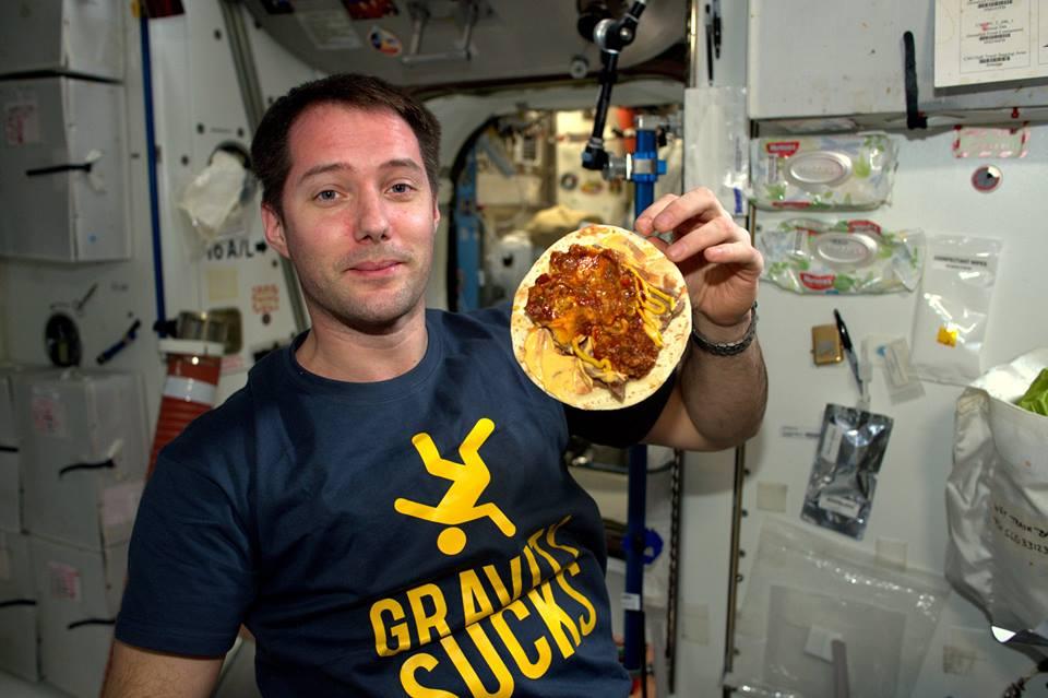 Gravity Sucks THomas Pesquet food