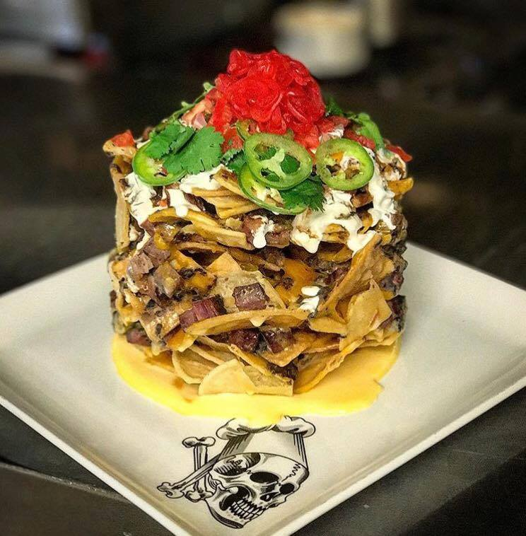 Guy's American Kitchen & Bar trashcan nachos