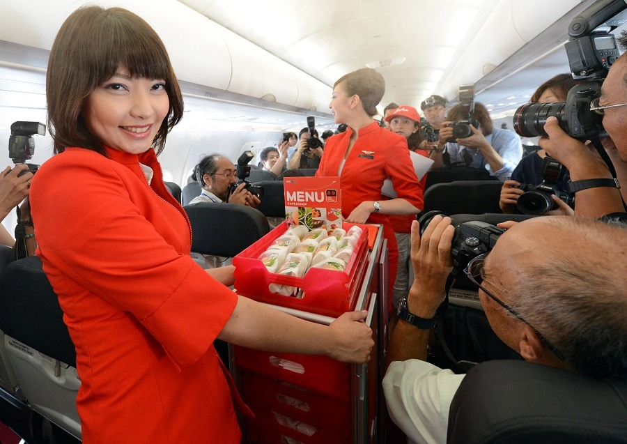 Happy attendant