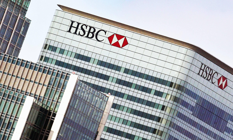 HSBC bank in London