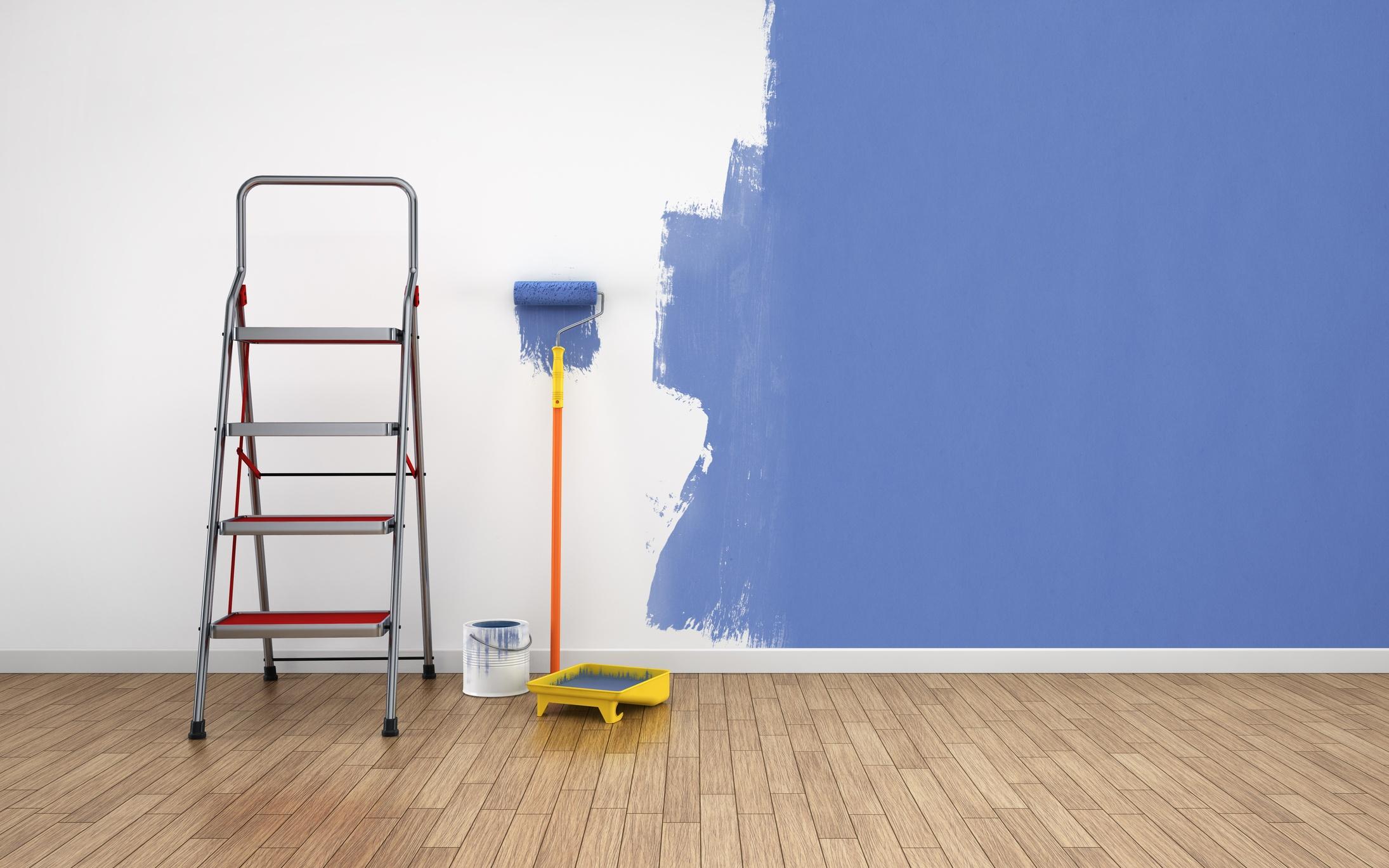 Half painted room
