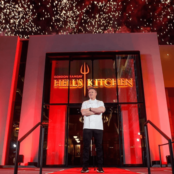 Hell's Kitchen restaurant Godron Ramsay