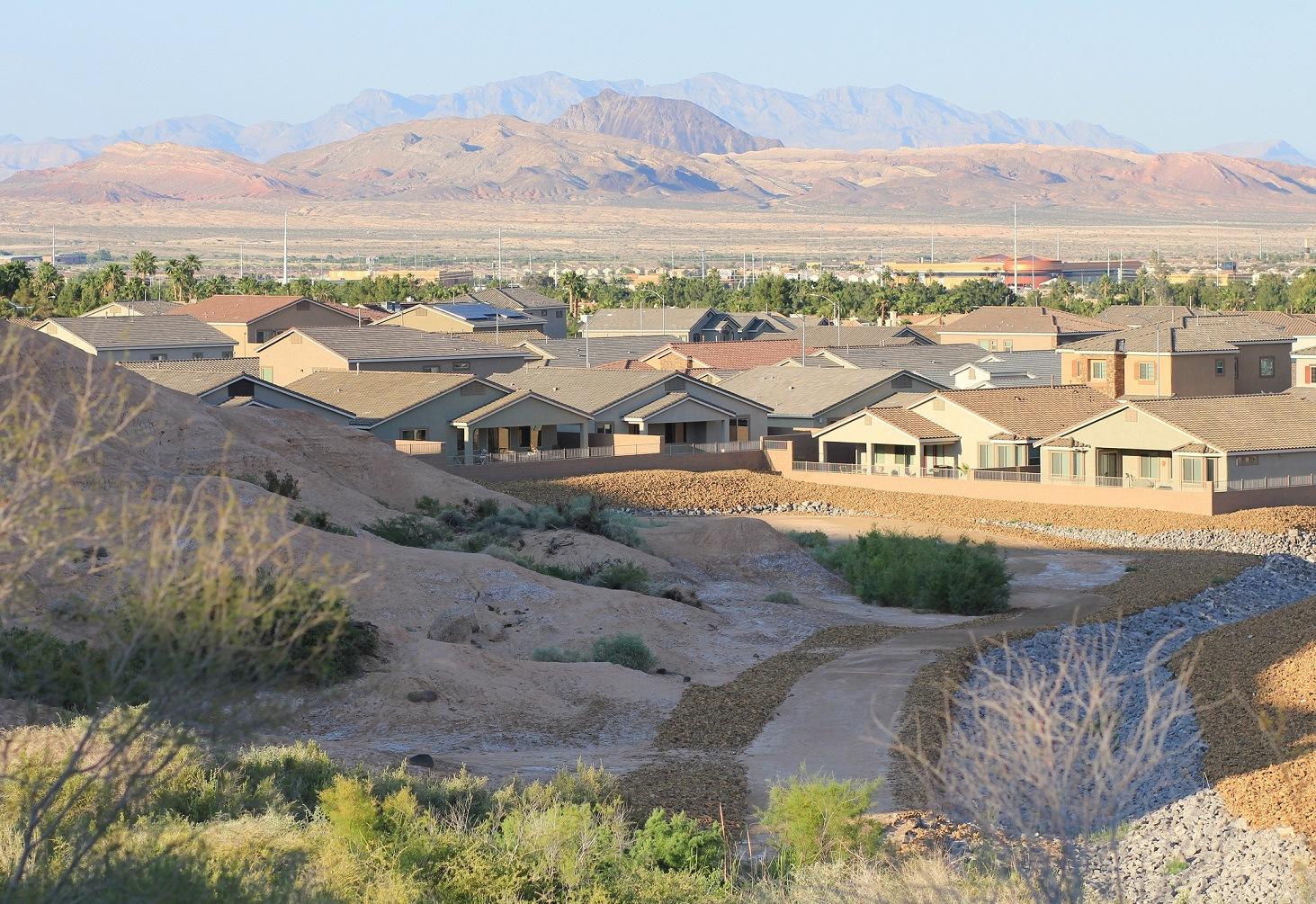 Houses in the desert Henderson, Nevada