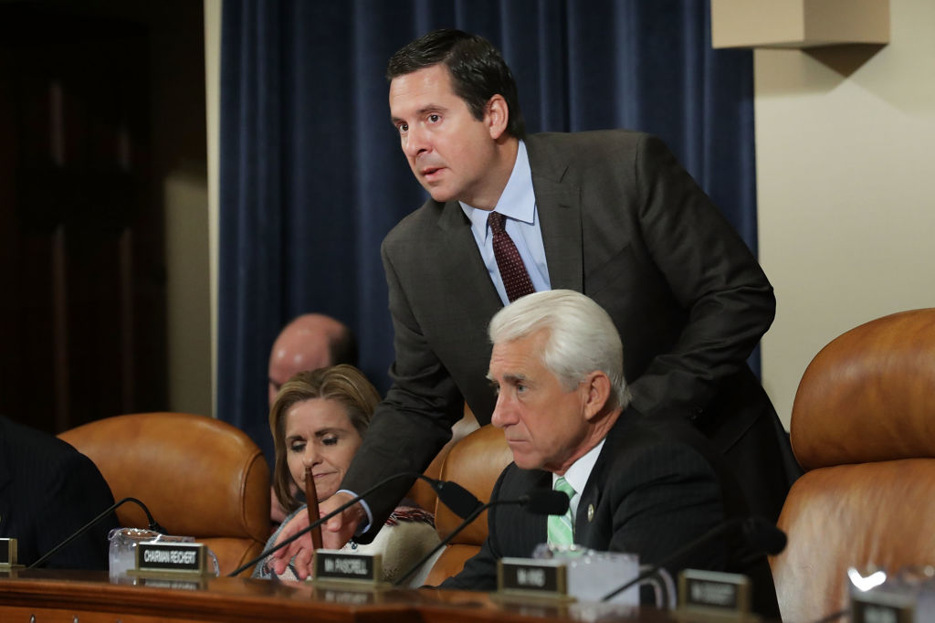 Dave Reichert and member Rep. Devin Nunes attend a hearing about NAFTA reform in the Longworth House Office