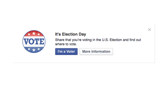 I voted button on Facebook