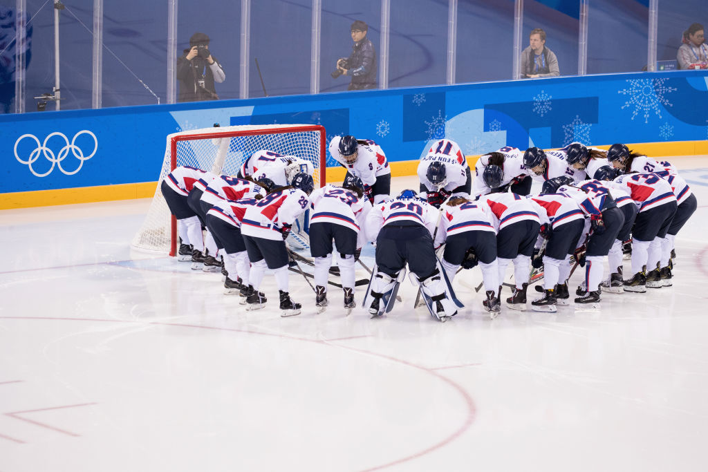 Team Korea prepare prior to the match against Sweden