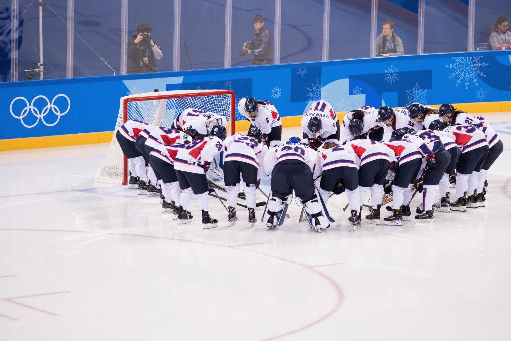 Team Korea prepare prior to the match against Sweden