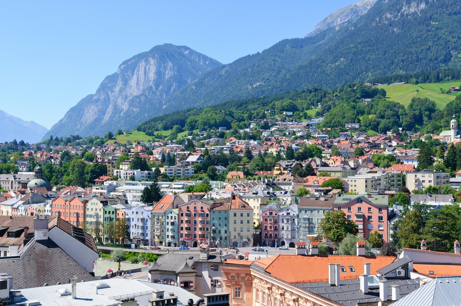 Cityscape of Innsbruck in Austria