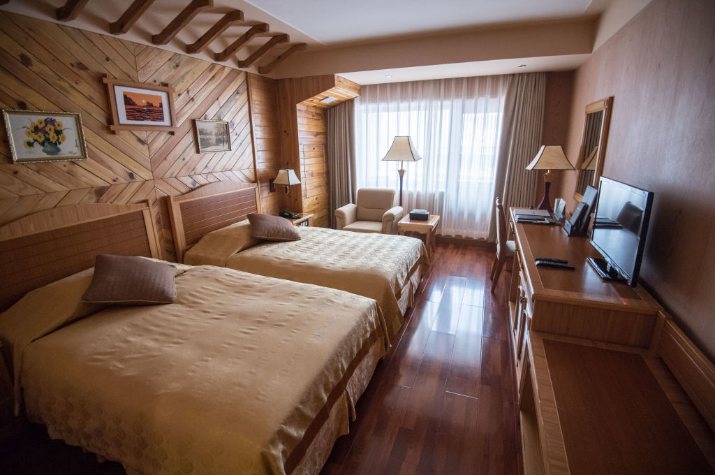 Rooms at North Korean ski resort