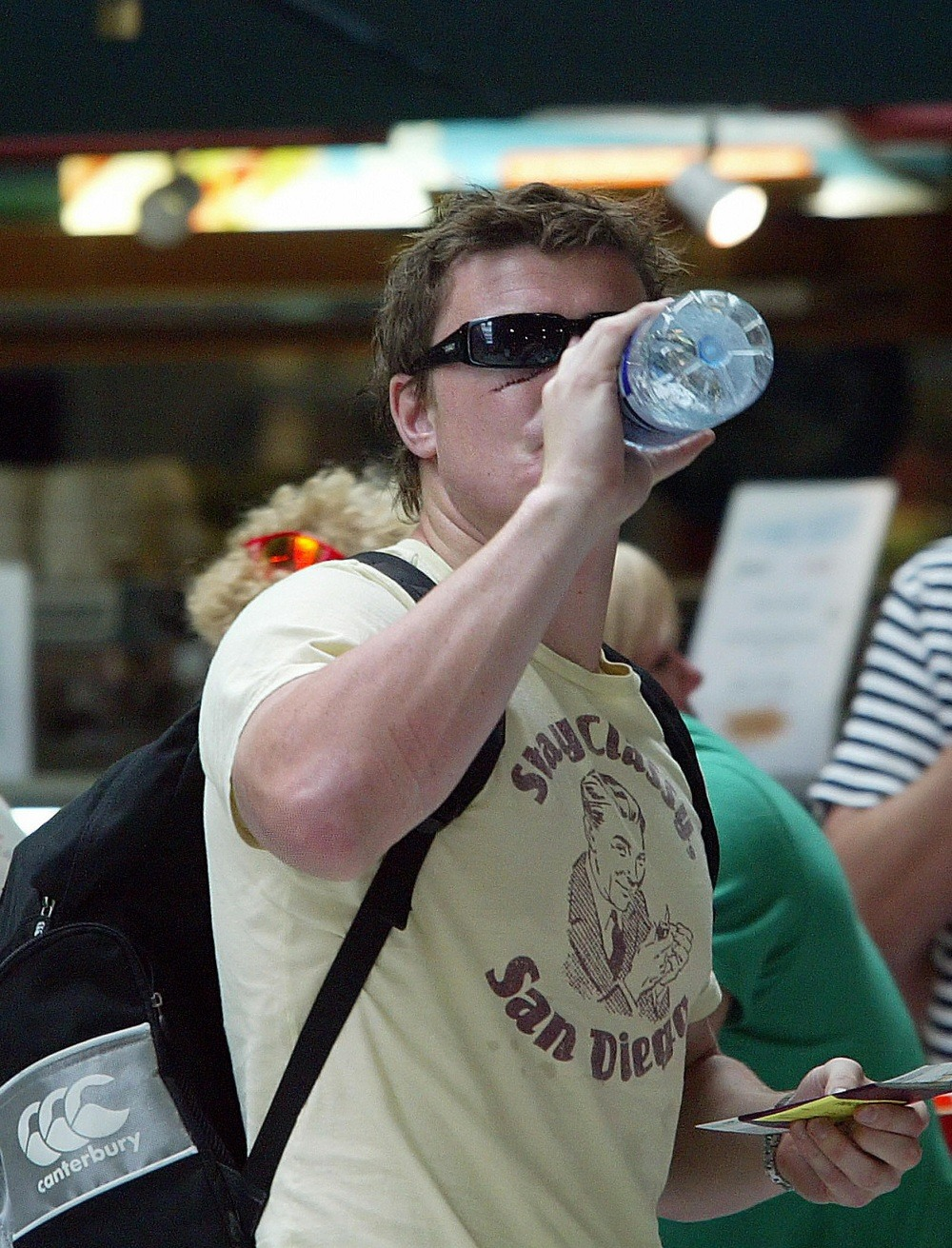 Ireland captain Brian O'Driscoll drinks water