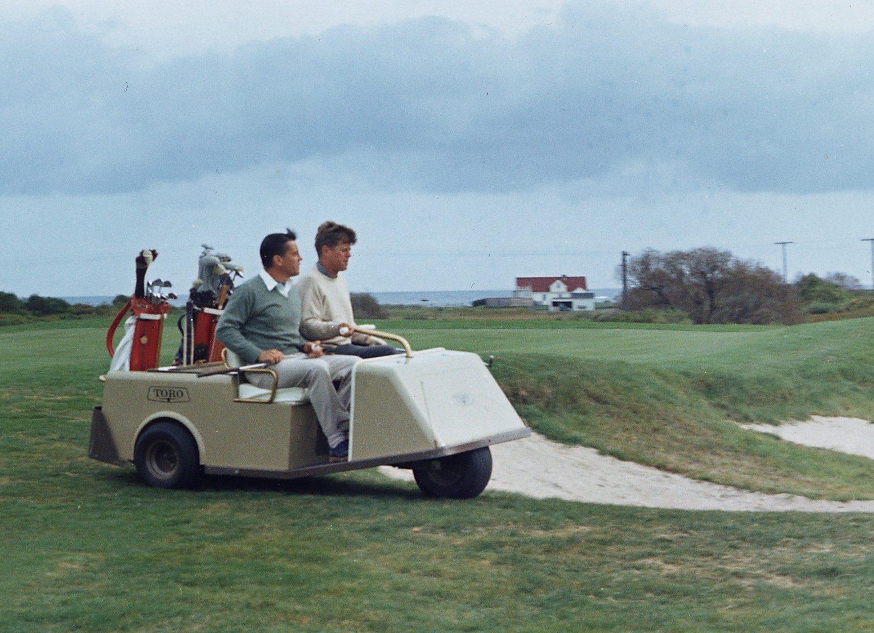 JFK John F Kennedy golfing