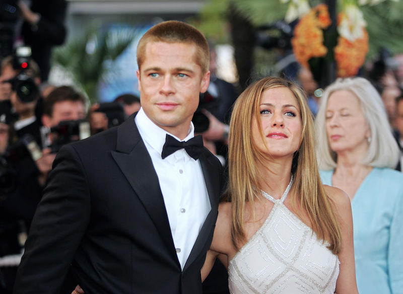US actor Brad Pitt and his wife Jennifer