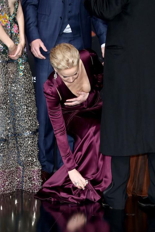 Celebrity underwear slip