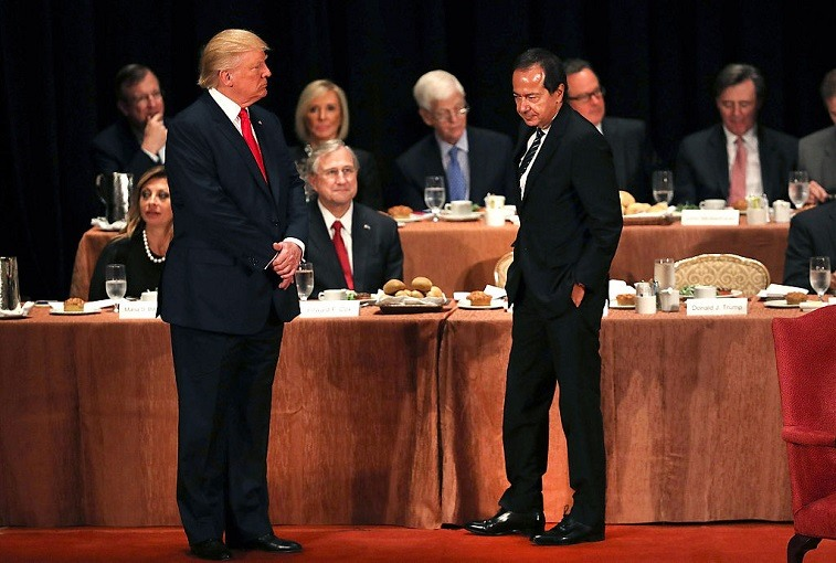 President Trump and John Paulson