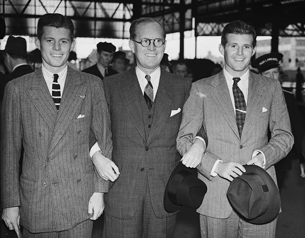 John F Kennedy (JFK) with his father and brother Joseph Sr. and Jr.