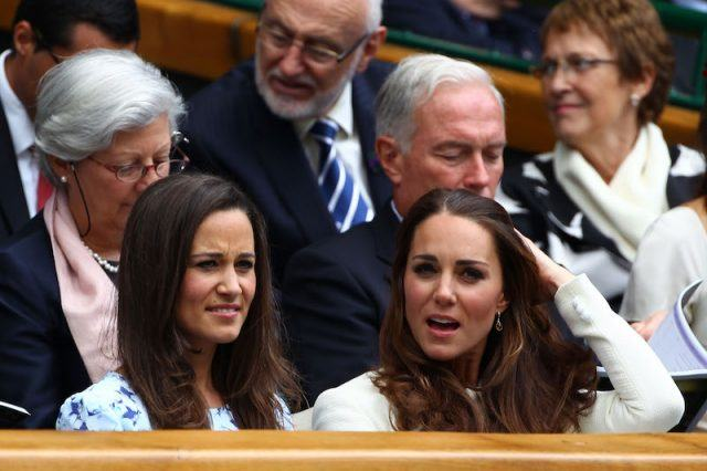 Pipp and Kate Middleton sit together and talk.