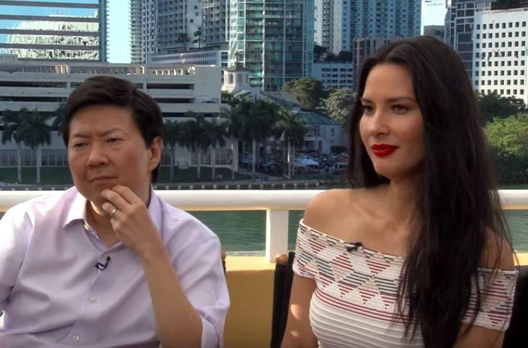 Both Ken Jeong and Olivia Munn thought this interview got weird. | Clevver News via Youtube