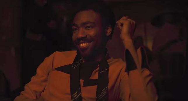 Donald Glover plays it cool as Lando Calrissian.