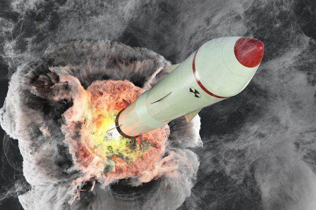 A missile launching in a rendering.