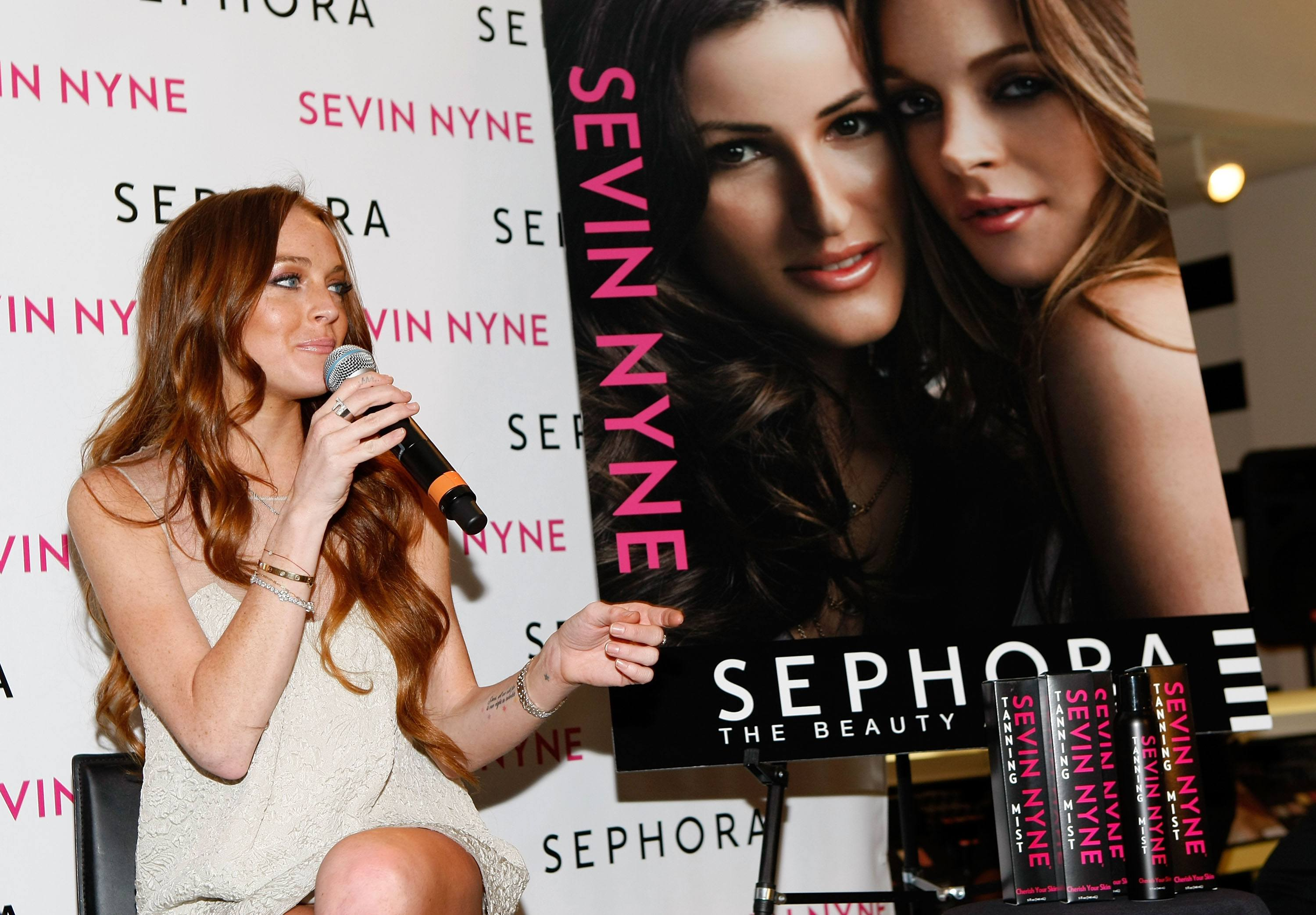 Lindsay Lohan Spray Tan Launch Party
